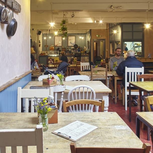 Inside Frizzante cafe